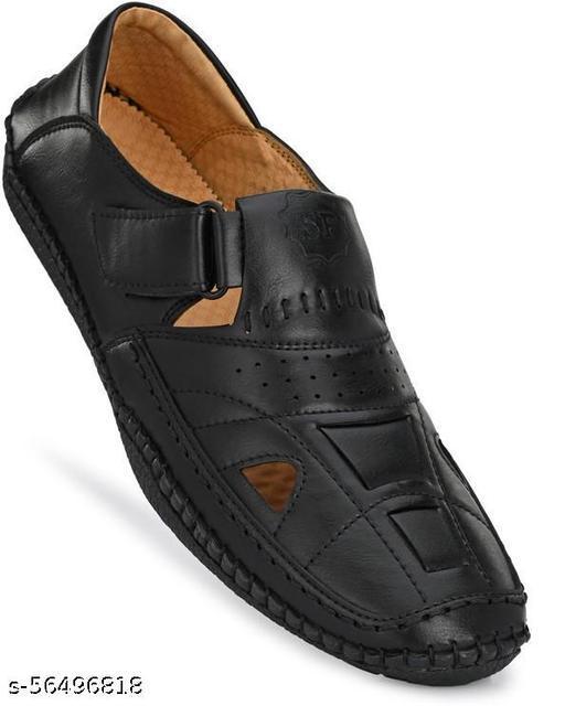 Sphera Black Sandal for Mens