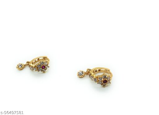 Beautiful gold plated AD piercing nosepin bali combo for woman and girls