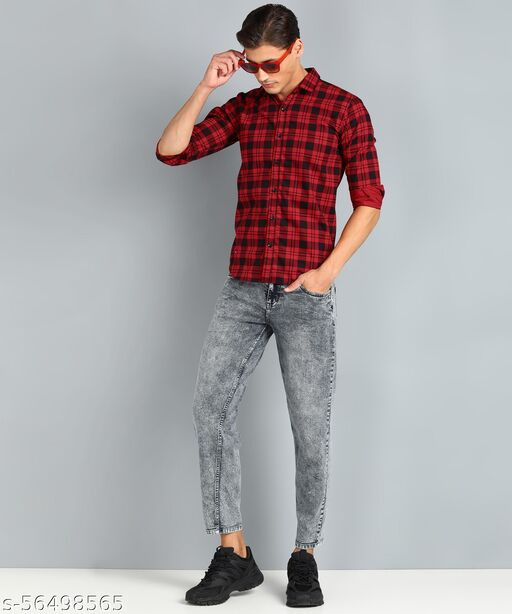 Trendy Cotton Checks Shirt For Men