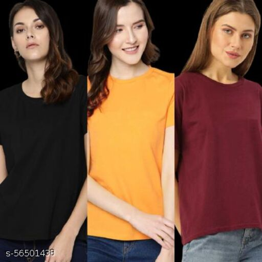 Women's T-Shirt Combo Pack of 3