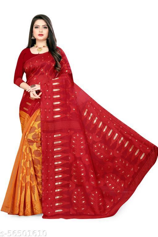 Shivani Dhakai Jamdani cotton silk Kolkata treditional Saree