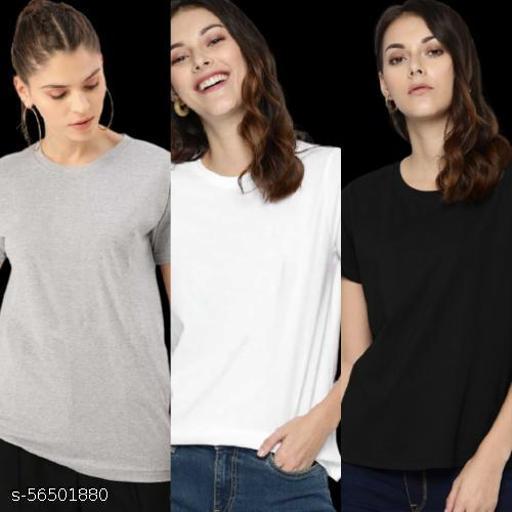 Women's Regular T-Shirt Combo Pack of 3