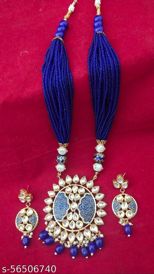 long necklace with earings