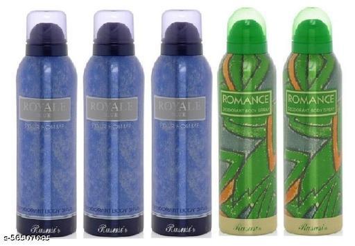 RASASI ROMANCE -2 AND ROYAL BLUE -3 PACK OF 5  Deodorant & Fragrances