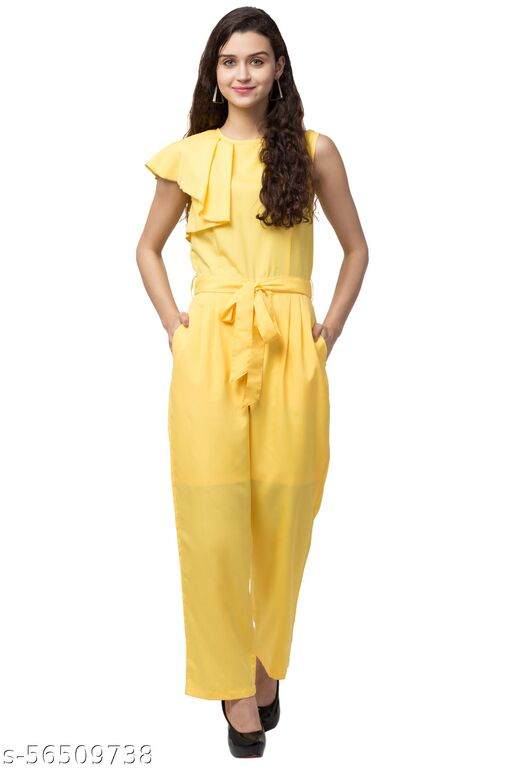 SHOOK-01 YELLOW JUMPSUIT WITH LINING