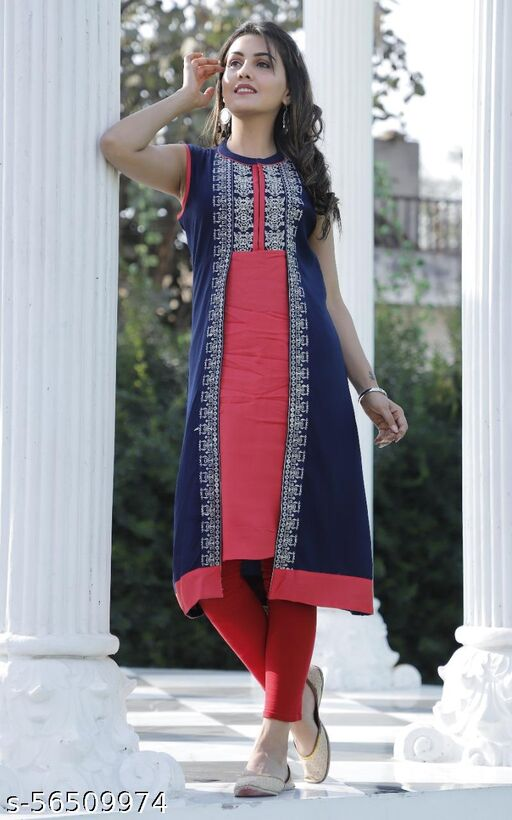 JD RED COLOUR EMBROIDERY KURTI
