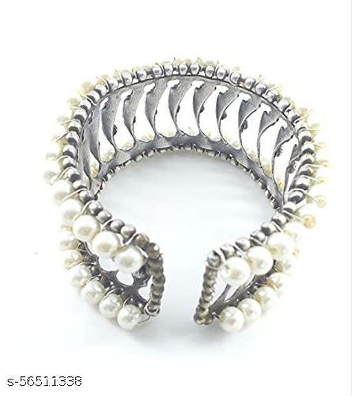 Devkinandan Enterprises Beads Bracelet of Brass Silver Oxidized for Girls and Women