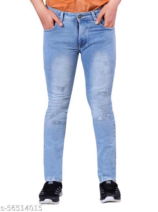 Fun Tree Slim Men Blue Jeans