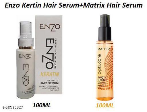 Enzo Professional Keratin Hair Serum 100ML & Matrix Smooth Straight Hair Serum 100ML, (Set Of 1)