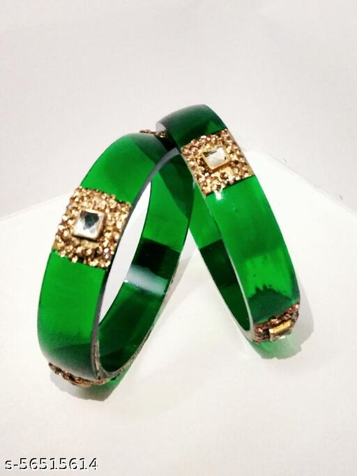 Trendy Fashionable Green Kada