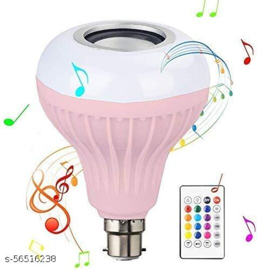 QUITE LAVISH - Led Bulb Bluetooth Speaker + RGB Colorfull Light Music Night Bulb with Remote Control for Home,Bedroom,Living Room,Party Decoration for All Bluetooth Smart Phone