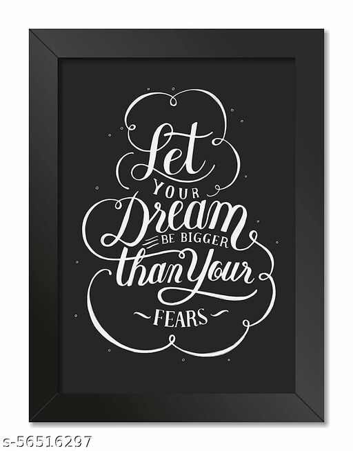 Paper Plane Design Inspirational Poster Photo Frame For Living Room  A4 Size  ( 9.25 x 12.75 Inch) d41