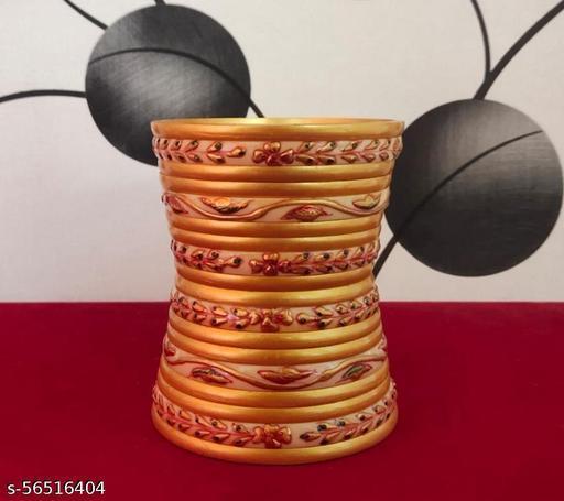 Rajwadi Special Rajputi Golden Color Work Bangles Sat