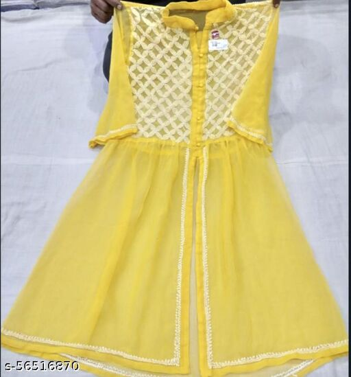 MS NETWORKS PRESENT MIDDLE LONG KURTI WITH YOG AND FRONT OPEN  BELOW YOG LATEST PATTERN FOR TEEN AGE UNIQUE LOOK