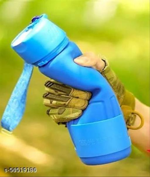 Silicon water bottle 680 ml Water Bottle  (Set of 1, Blue)