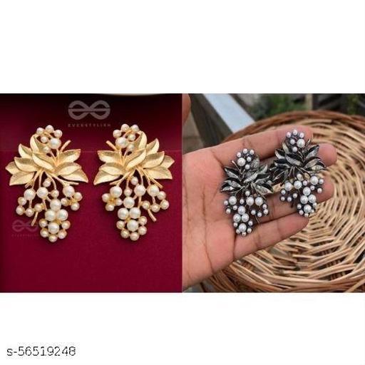 Combo 2 Pair Pearl Flower Earrings