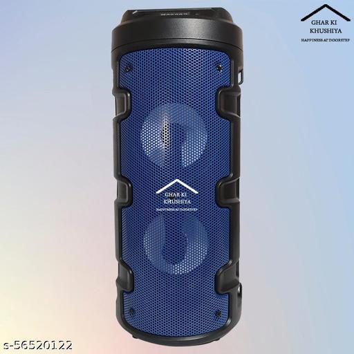 ghar ki khushiya HIGH POWER AUDIO SYSTEM WITH KARAOKE MIC,BLUETOOTH CONNECTIVITY, LIGHT SHOWS 10 W BLUETOOTH SPEAKER (BLACK, STEREO CHANNEL) 10 W Bluetooth Tower Speaker  (Black, Stereo Channel)