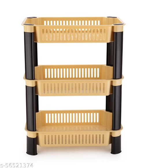 SHYAM ENTERPRISE Kitchen Rack Basket for Kitchen & Office Use, Fruits Onion, Potato, Vegetables Basket Tray for Household Rectangle Tray Rack