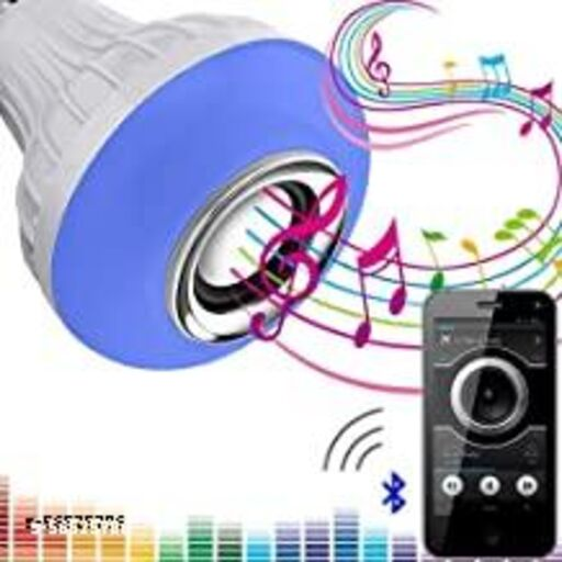 Music Bulb Multi Use Bluetooth Speaker,Led Bulb & Music Light Multipl B22 LED White + RGB Light Ball Bulb Colorful Lamp with Remote Control for Home, Bedroom, Party Decoration and All.
