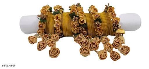 Flower bangle golden