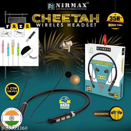 35 Hours SoundKing Truly Wireless Bluetooth In Ear Neckband Earphone with Mic I Sweat Proof I  (Any Color As Per Stock) + 1 Ensure Free Gift