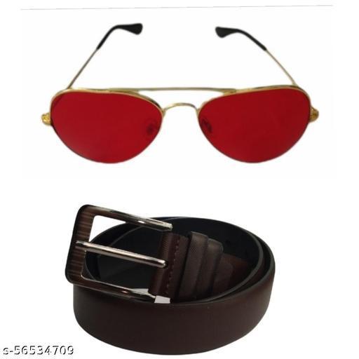 Men Sunglasses And Belt Combo