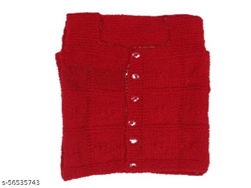 Squnib Vest For Baby Boys & Baby Girls Pure Wool  ( Pack of 1) Red