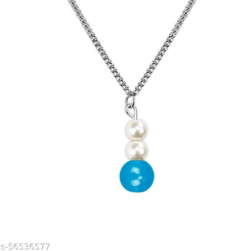 Mikado Beautiful Blue Beads Necklace Chain For Women And Girls