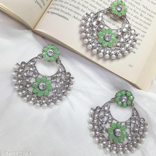 Karki Fusion Chandbalis jewellery set