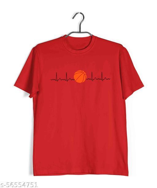 Aaramkhor Minimal Designs Round Neck Half Sleeve T-Shirt for Men     Basketball is Life    Sports