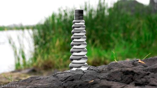 HERYLA CREATION Pyramid Round Shaped Plastic Water Bottle for Fridge {SET OF 3}