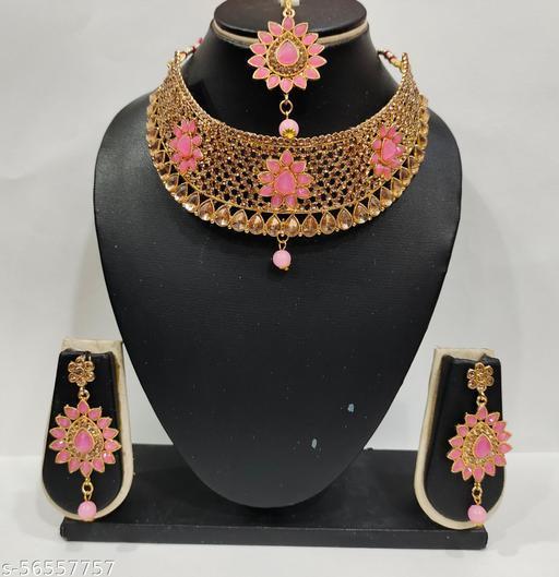 Radhika art jewellery kundan necklace set  Jewellery Set