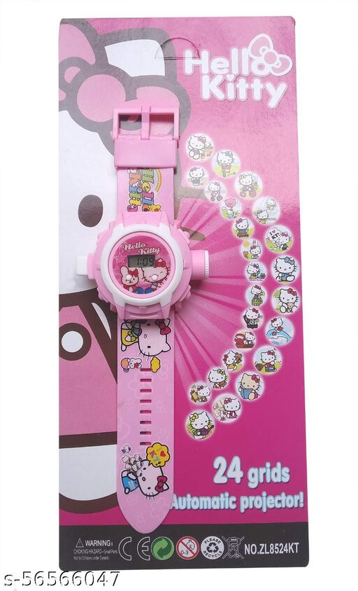Projector Kid Watch | Hello Kitty 24-Images Digital Display Projector Cartoon Watch for Kids Set of - 1
