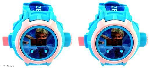 Projector Kid Watch | Frozen 24-Images Digital Display Projector Cartoon Watch for Kids Set of - 2