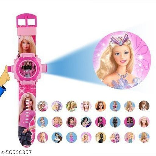 Projector Kid Watch | Barbie 24-Images Digital Display Projector Cartoon Watch for Kids Set of - 1