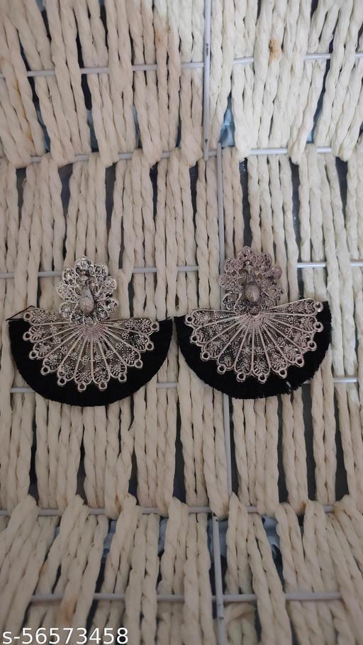 Peacock Earrings With Tassels