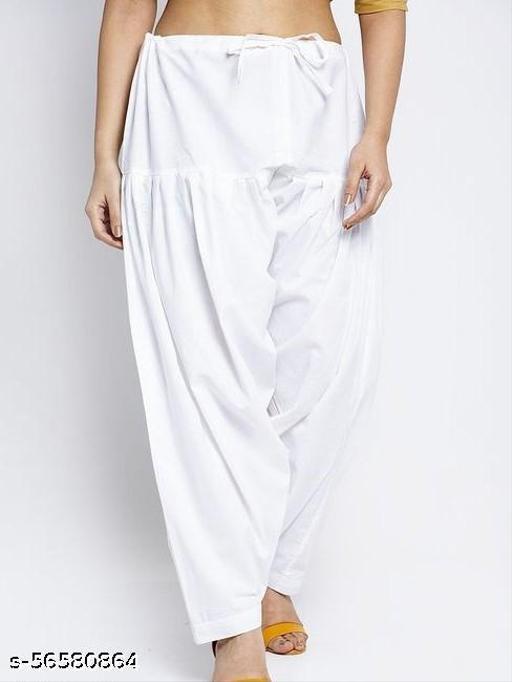 Women's Traditional Soft 100% Cotton Patiala Bottom Salwar