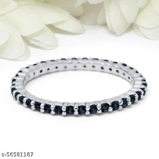 925 Silver Ring Black Diamond Ring