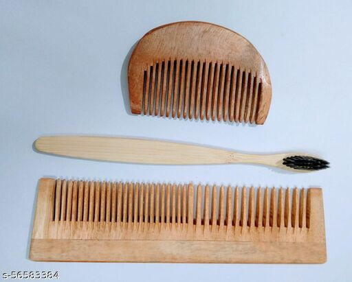 Struggle hair comb with tooth brush combo