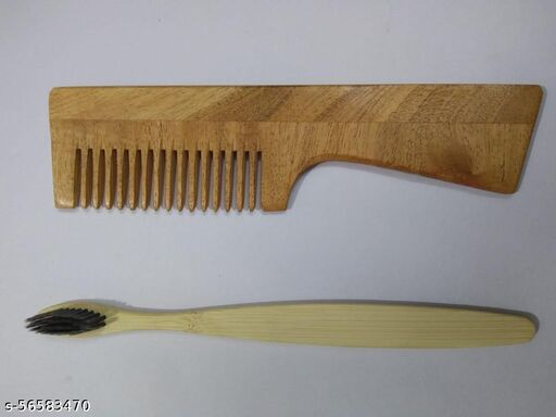 2in1 hair comb with toothbrush combo