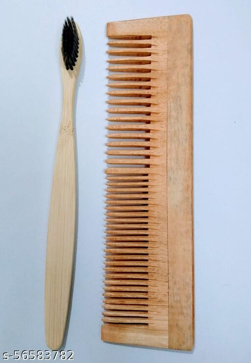 Combo of toothbrush and 2in1 comb