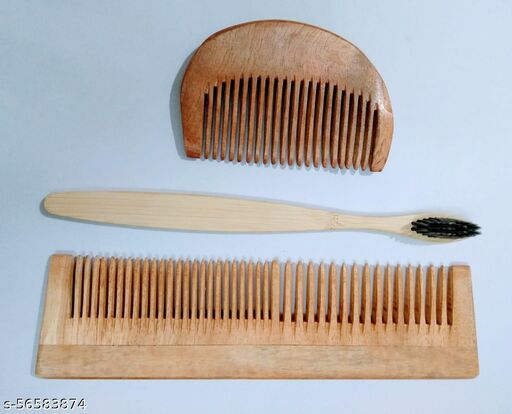 Struggle beard comb 2in1 comb with toothbrush