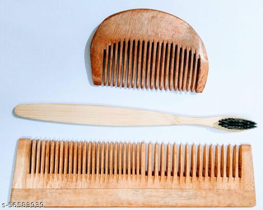 Beard comb toothbrush with 2in1 comb combo