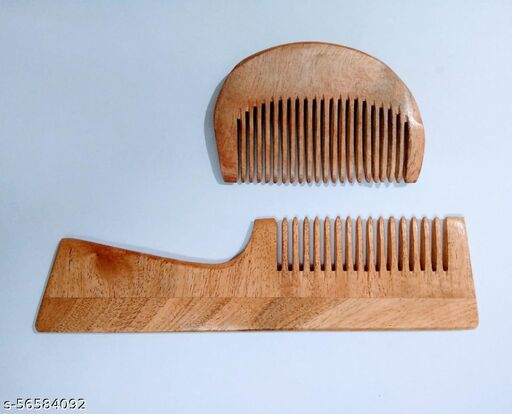Handle comb with beard comb combo