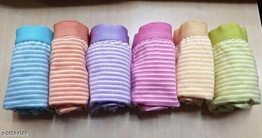 Womens Cotton Panty (Pack of 6), Stripe design  Inrner Elastic