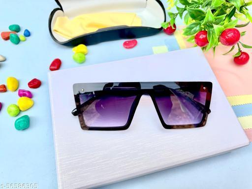Flat Design Square Sunglasses for Men & Women