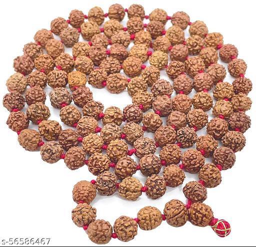 Jaap Mala 108 Beads Spritual Rudraksh Maala Set For Men & Women Spiritual 5 Mukhi Rudraksha Mala