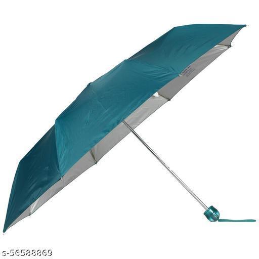 John's Three Fold Mono Umbrella Green Colour