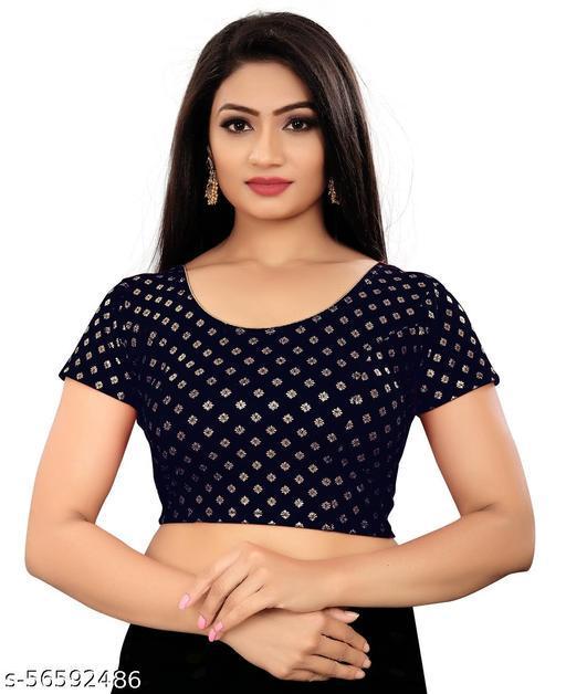 Latest Foli Dot printed Stretchable lycra blouse