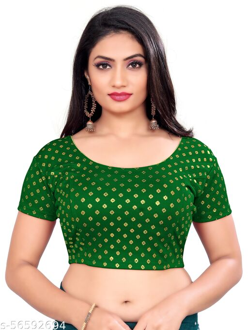 Latest Foli Dot printed Stretchable cotton lycra blouse